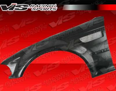VIS Racing - BMW 3 Series 2DR VIS Racing OEM Style Carbon Fiber Front Fenders - 01BME46M32DOE-007C