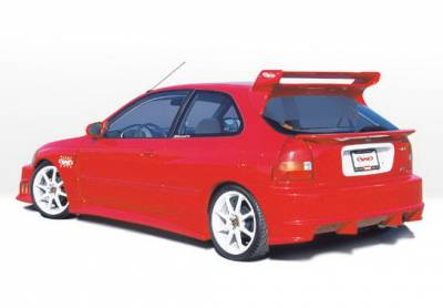 Wings West - Honda Civic HB Wings West GSR Style Fender Overlay - Fiberglass - Left Rear - 490179L