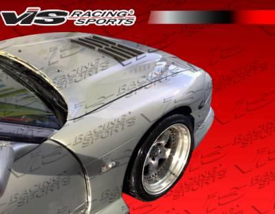 VIS Racing. - Nissan 240SX VIS Racing G Speed Widebody Front Fenders - 89NS2402DGSPWB-007