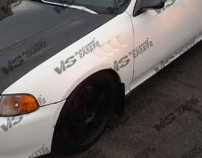 VIS Racing - Honda Del Sol VIS Racing Z3 Fenders - 93HDDEL2DZ3-007
