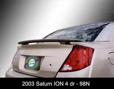 California Dream - Saturn Ion California Dream Custom Style Spoiler - Unpainted - 98N