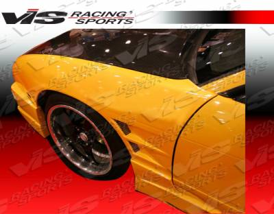 VIS Racing - Nissan 240SX VIS Racing Drift Type 2 Front Fenders - 50mm - 97NS2402DDFT2-007