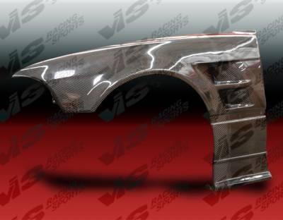 VIS Racing. - BMW 3 Series 2DR VIS Racing R Tech Front Fenders - Carbon Fiber - 99BME462DRTH-007C