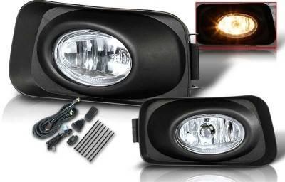WinJet - Acura TSX WinJet OEM Fog Light - Clear - Wiring Kit Included - WJ30-0001-09