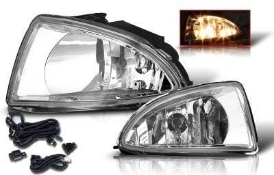 WinJet - Honda Civic WinJet OEM Fog Light - Smoke - Wiring Kit Included - WJ30-0033-11