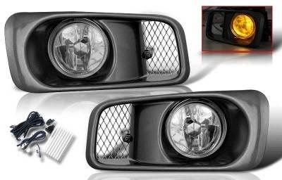 WinJet - Honda Civic WinJet OEM Fog Light - Smoke - Wiring Kit Included - WJ30-0034-11