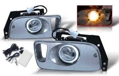 WinJet - Honda Civic 2DR & 3DR WinJet OEM Fog Light - Clear - Wiring Kit Included - WJ30-0035-09