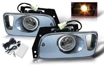 WinJet - Honda Civic 2DR & 3DR WinJet OEM Fog Light - Smoke - Wiring Kit Included - WJ30-0035-11