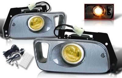 WinJet - Honda Civic 2DR & 3DR WinJet OEM Fog Light - Yellow - Wiring Kit Included - WJ30-0035-12