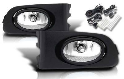 WinJet - Honda Civic 2DR & 4DR WinJet OEM Fog Light - Smoke - Wiring Kit Included - WJ30-0036-11