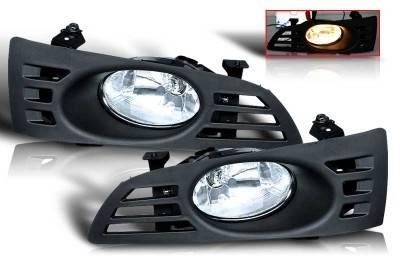 WinJet - Honda Accord 2DR WinJet OEM Fog Light - Clear - Wiring Kit Included - WJ30-0037-09