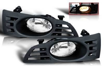 WinJet - Honda Accord 2DR WinJet OEM Fog Light - Smoke - Wiring Kit Included - WJ30-0037-11