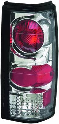 APC - GMC S15 APC Euro Taillights with Chrome Housing - 404111TLR