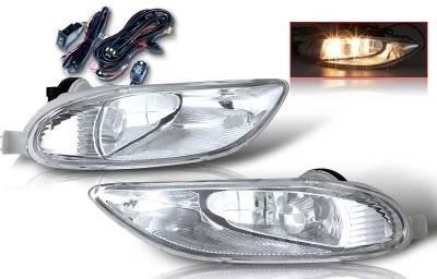 WinJet - Toyota Corolla WinJet OEM Fog Light - Clear - Wiring Kit Included - WJ30-0047-09