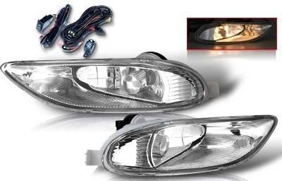 WinJet - Toyota Solara WinJet OEM Fog Light - Smoke - Wiring Kit Included - WJ30-0047-11