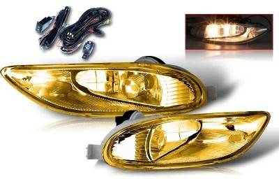 WinJet - Toyota Solara WinJet OEM Fog Light - Yellow - Wiring Kit Included - WJ30-0047-12