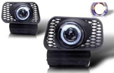 WinJet - Chevrolet Avalanche WinJet Halo Projector Fog Light - Clear - WJ30-0057-09