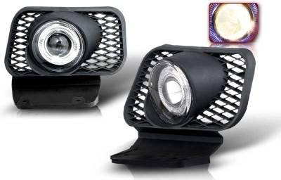 WinJet - Chevrolet Avalanche WinJet Halo Projector Fog Light - Smoke - WJ30-0057-11