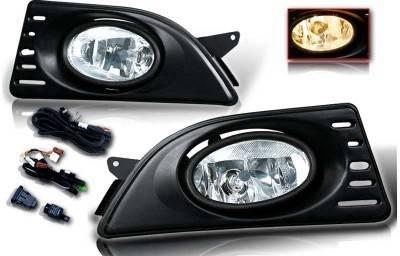 WinJet - Acura RSX WinJet OEM Fog Light - Clear - Wiring Kit Included - WJ30-0060-09