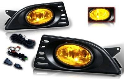 WinJet - Acura RSX WinJet OEM Fog Ligth - Yellow - Wiring Kit Included - WJ30-0060-12