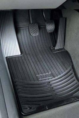 Custom - E46 Floor Mats - Rubber Black