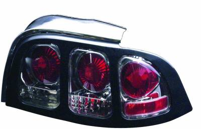 APC - Ford Mustang APC Euro Taillights with Chrome Housing - 404138TLR