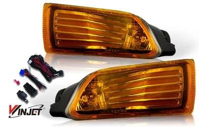 WinJet - Scion tC WinJet OEM Fog Light - Yellow - Wiring Kit Included - WJ30-0070-12