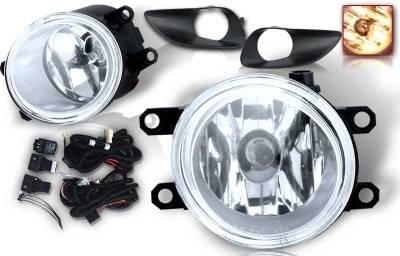 WinJet - Toyota Yaris WinJet OEM Fog Light - Clear - Wiring Kit Included - WJ30-0074-09
