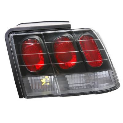 APC - Ford Mustang APC Euro Taillights with Black Housing - 404148TLB