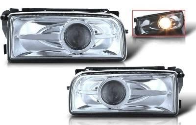WinJet - BMW 3 Series WinJet Halo Projector Fog Light - Clear - WJ30-0078-09
