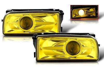 WinJet - BMW 3 Series WinJet Halo Projector Fog Light - Yellow - WJ30-0078-12