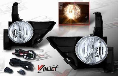 WinJet - Honda CRV WinJet OEM Fog Light - Clear - Wiring Kit Included - WJ30-0082-09