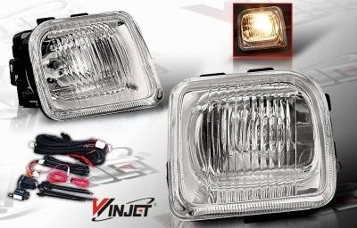 WinJet - Honda Civic WinJet OEM Fog Light - Smoke - Wiring Kit Included - WJ30-0083-11