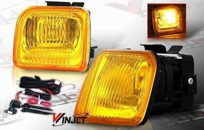 WinJet - Honda Civic WinJet OEM Fog Light - Yellow - Wiring Kit Included - WJ30-0083-12