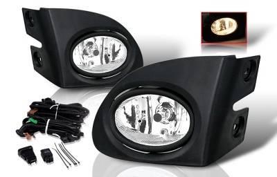 WinJet - Honda Civic HB WinJet Fog Light - Smoke - Wiring Kit Included - WJ30-0084-11
