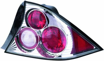 APC - Honda Civic 2DR APC Euro Taillights with Chrome Housing - 404194TLR