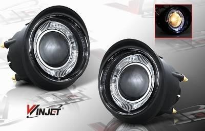 WinJet - Nissan Murano WinJet Halo Projector Fog Light - Smoke - WJ30-0092-11