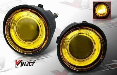 WinJet - Nissan Murano WinJet Halo Projector Fog Light - Yellow - WJ30-0092-12
