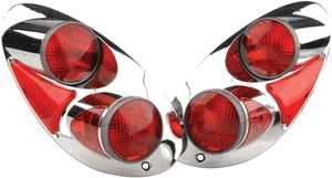 APC - APC 3D Retro Chrome Taillights - 404764TLR