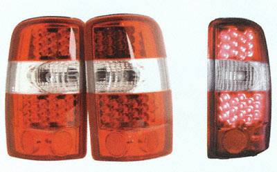 APC - LED Tail Lights - Red Housing, Clear Lens - 404903TLR