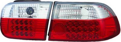 APC - Honda Civic HB APC LED Taillights with Red & Clear Lens - 406230TLR