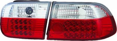 APC - Honda Civic 2DR & 4DR APC LED Taillights with Red & Clear Lens - 406252TLR