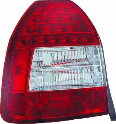APC - Honda Civic HB APC LED Taillights with Red & Clear Lens - 406275TLR
