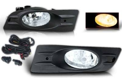 WinJet - Honda Accord 2DR WinJet OEM Fog Light - Clear - Wiring Kit Included - WJ30-0098-09