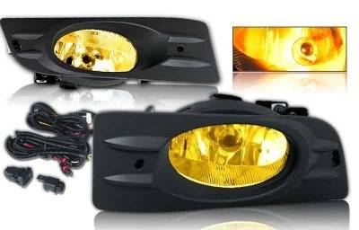 WinJet - Honda Accord 2DR WinJet OEM Fog Light - Yellow - Wiring Kit Included - WJ30-0098-12