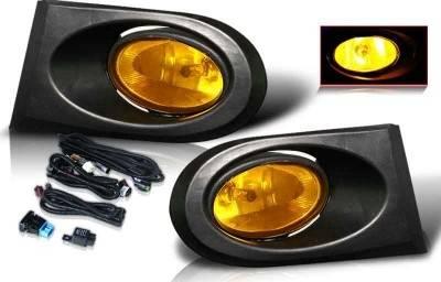 WinJet - Acura RSX WinJet OEM Fog Light - Yellow - Wiring Kit Included - WJ30-0099-12