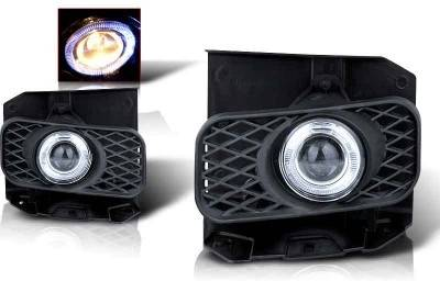 WinJet - Ford F150 WinJet Halo Projector Fog Light - Clear - WJ30-0100-09