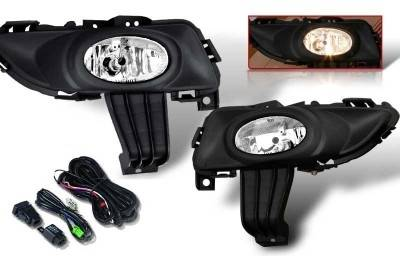 WinJet - Mazda 3 WinJet OEM Fog Light - Smoke - Wiring Kit Included - WJ30-0101-11