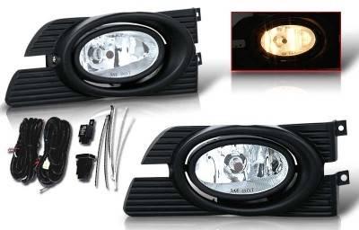 WinJet - Honda Accord 4DR WinJet OEM Fog Light - Clear - Wiring Kit Included - WJ30-0103-09