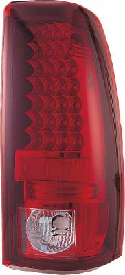 APC - Chevrolet Silverado APC LED Taillights with Red & Clear Lens - 406623TLR